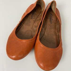 Lucky Brand orange ballet flats size 7.5